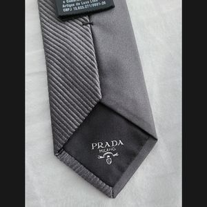 Prada grey tie